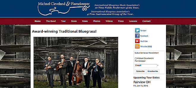 Michael Cleveland and Flamekeeper Band - Bluegrass fiddle music