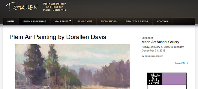 Dorallen Davis - Plein Air painter in Marin, California