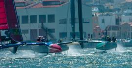 Sail GP on San Francisco Bay.