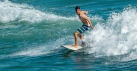 Simon surfing Huntington Beach