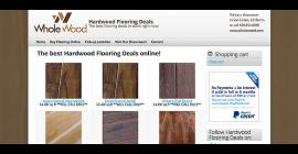 Hardwood Flooring Deals - Drupal e-commerce website