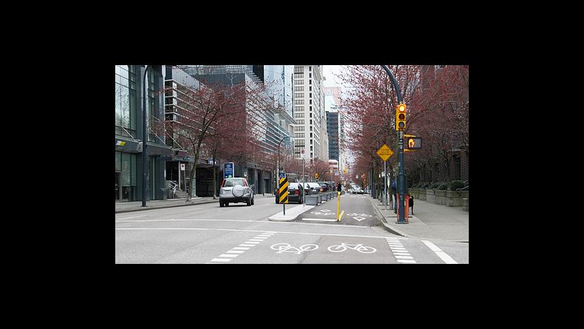 Vancouver bike lanes - the best!