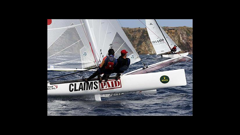 Kirk Boeger sailing in the Virgin Islands
