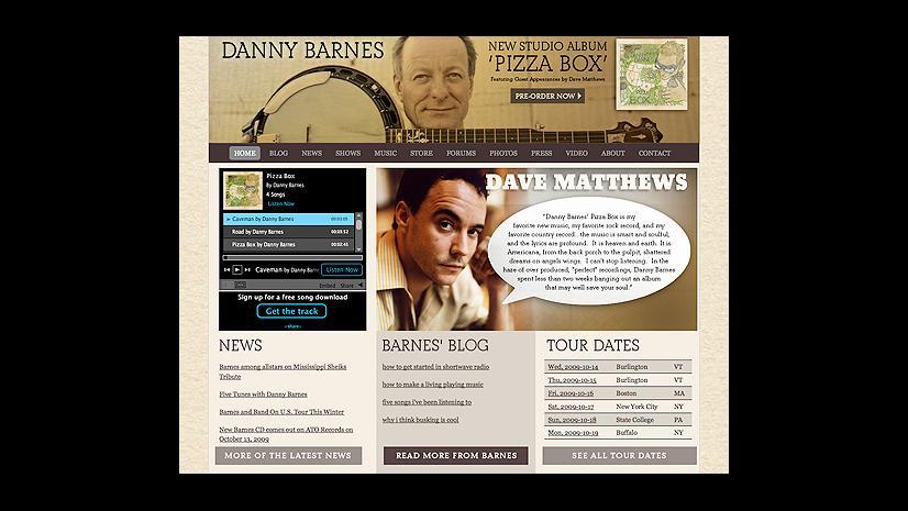 Danny Barnes website