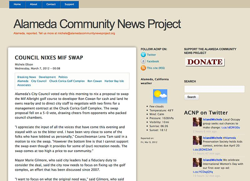 Alameda Community News Project