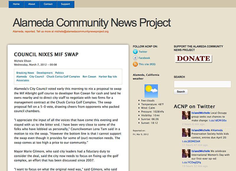 Alameda Community News Project