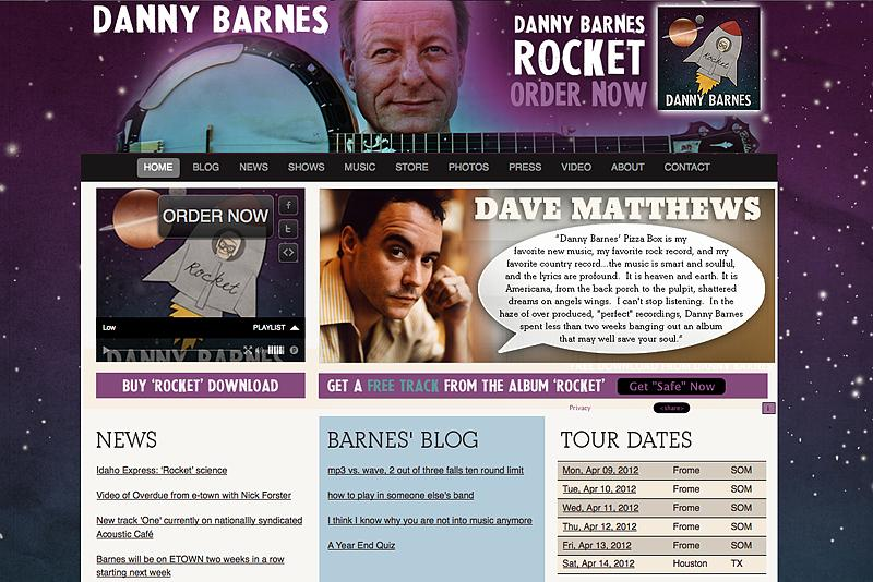 Danny Barnes Banjo Website