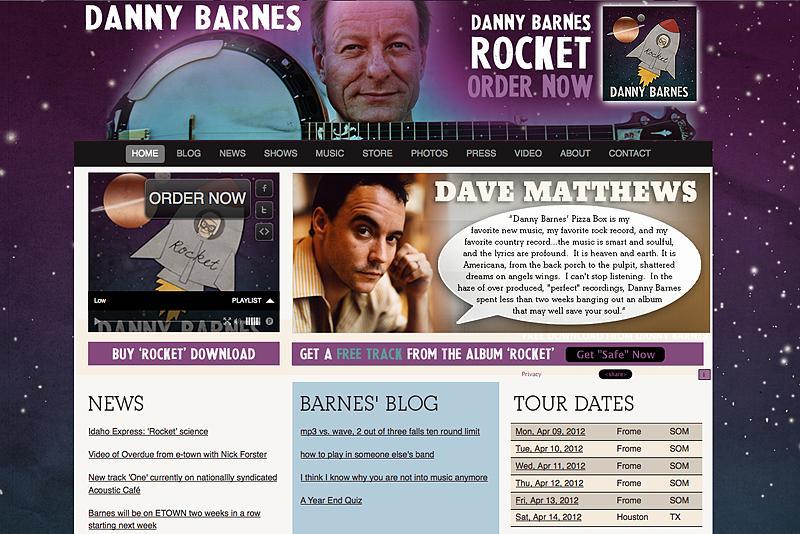 Danny Barnes Banjo Website
