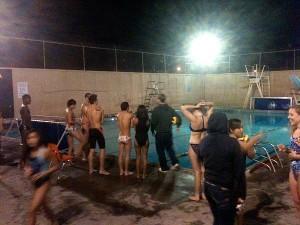 Emma Hood swimming pool in Alameda is always busy in the evenings.