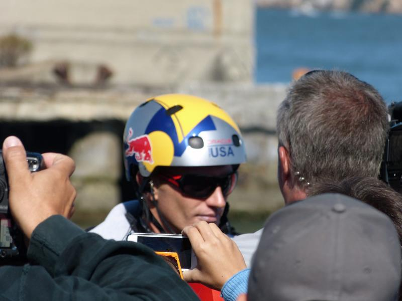 Jimmy Spithill about 2 hours before winning AC34.