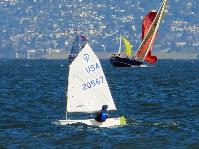 Simon racing at the St. Francis on the San Francisco Cityfront