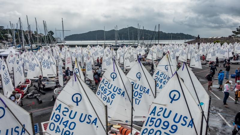 260 optis at SFYC for 2016 Team Trials