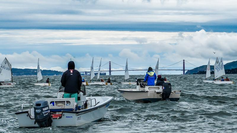 Optimist racing on San Francisco Bay - Berkeley Circle