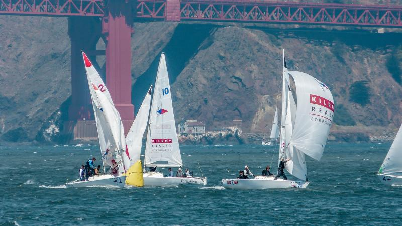 2018 Sears Cup Qualifier raced in front of St. Francis Yacht Club.