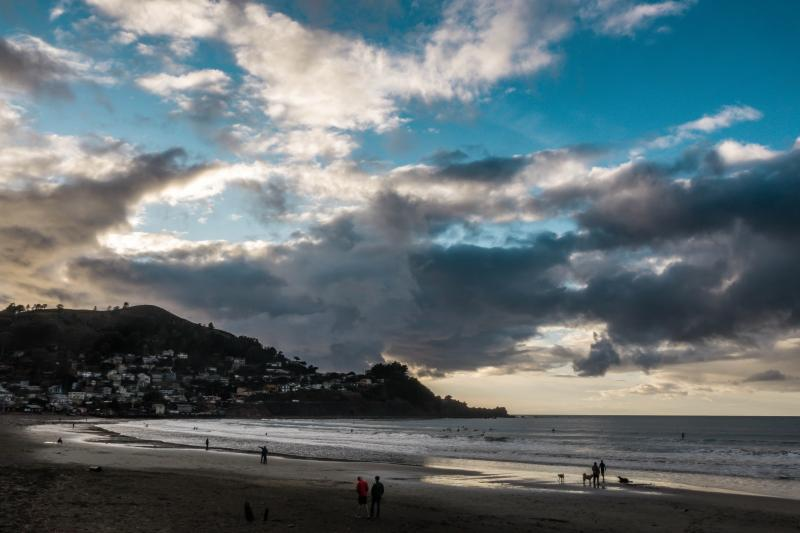 Sun setting at Pacifica.