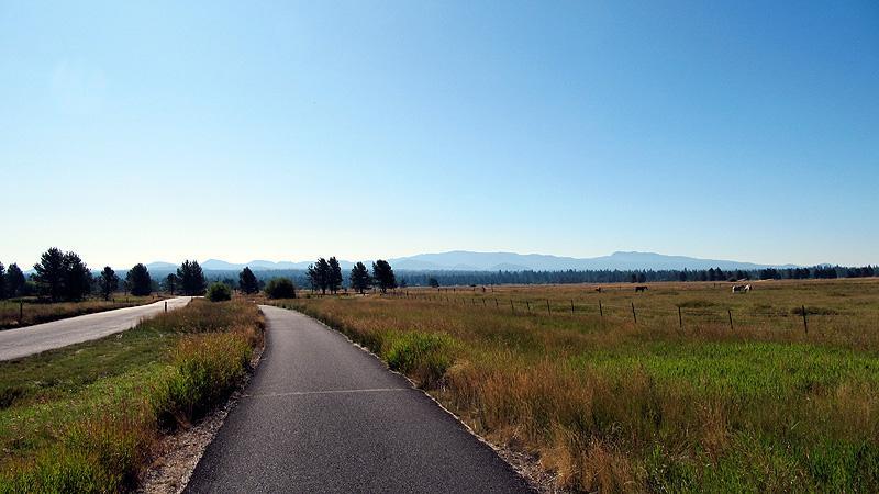 Biking landscape in Sunriver