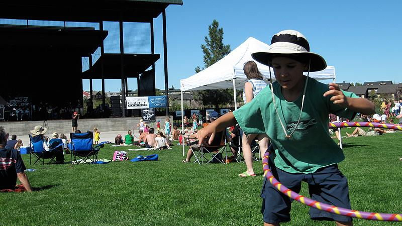 Simon doing the Hula in Bend, Oregon