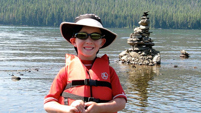 Rock sculptures in Cultus Lake