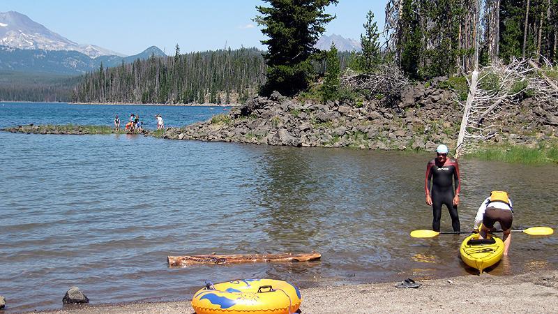 We spot Aquaman at Elk Lake