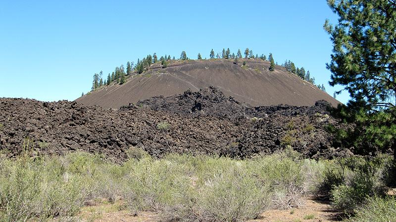 cinder cone at lava lands.