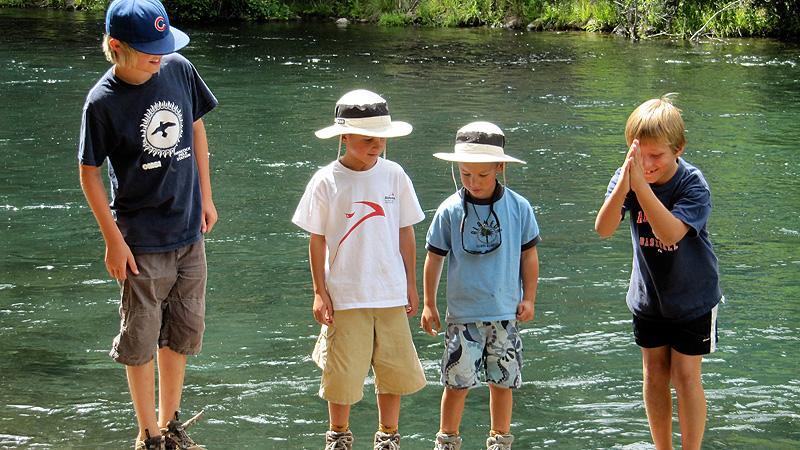 Hangin' w/ the Jackson Boys, Metolius River near Bend Oregon.