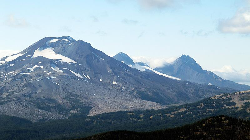 View of 3 Sisters from Mt. Bachelor.