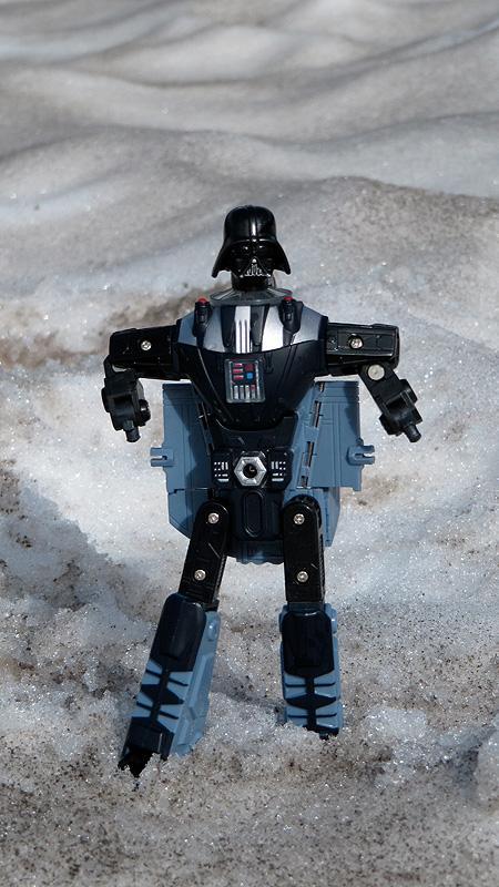 Darth Vader no likey snow (on Mt. Bachelor)