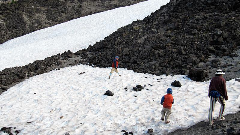 Snowball fight on Mt. Bachelor!