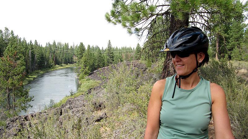 Kari on the mountainbike trail