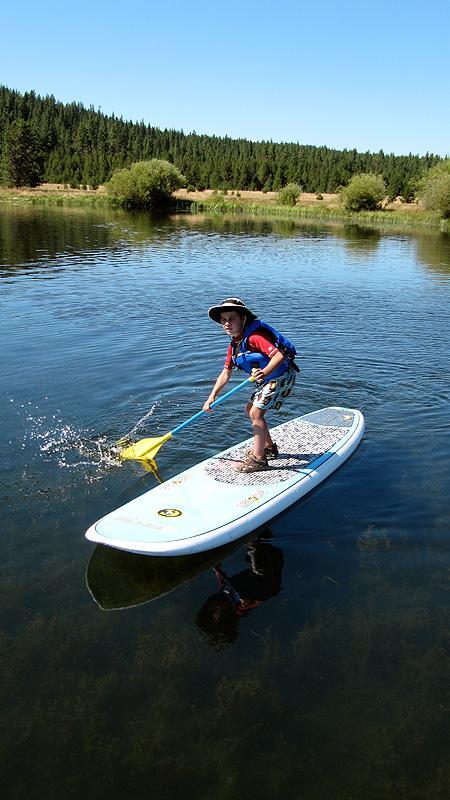 Simon loves that standup paddleboard.