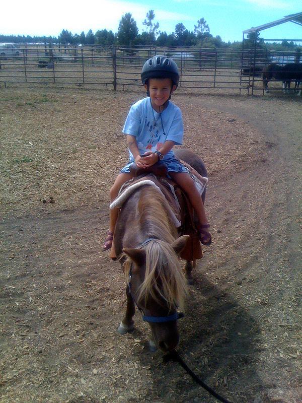 Henry not much of a pony fan.
