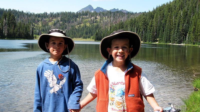 The boys on Todd Lake