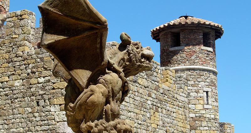 Gargoyle guards the Napa castle