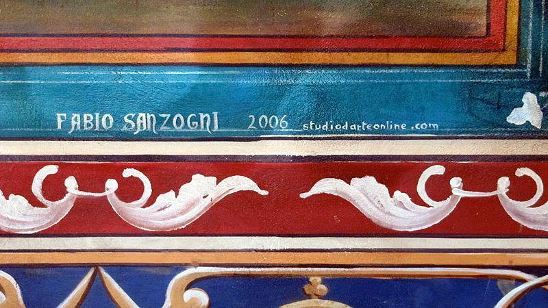 The artist's signature. - Castello di Amorosa
