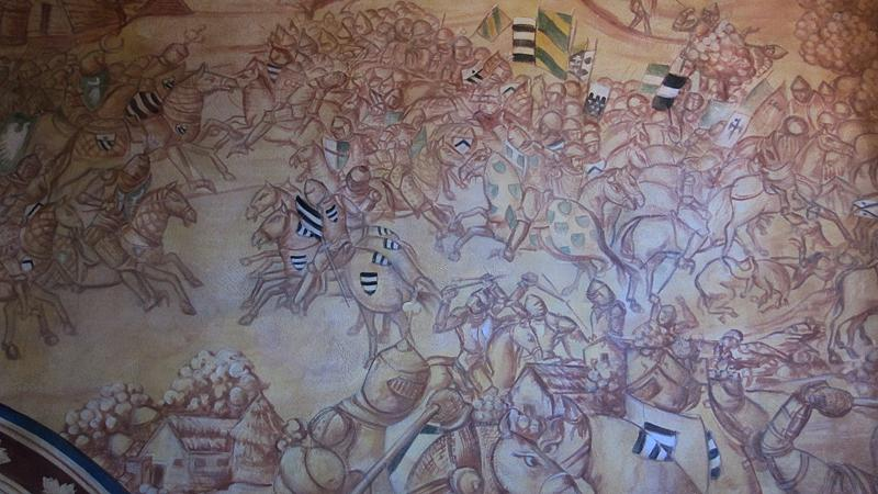 Kids love the battle scenes on the murals.