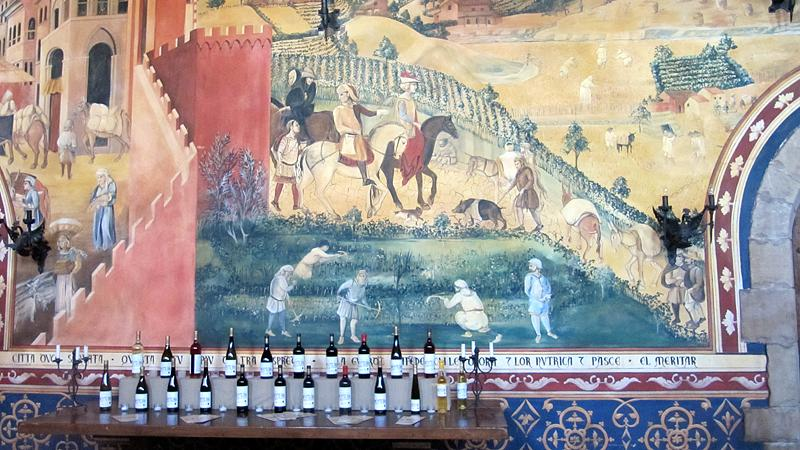 Mural in one of the great rooms.