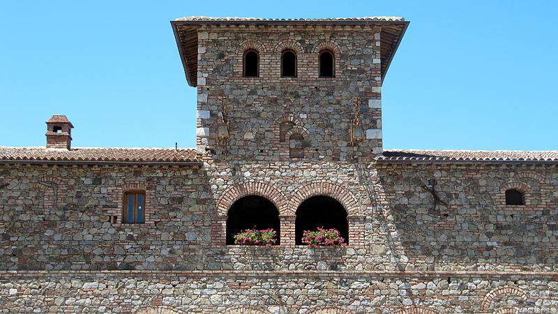 Dario Sattui himself has his office across the parking lot in another castle.