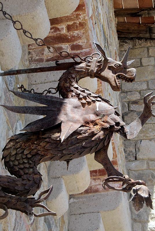 Dragon detail.