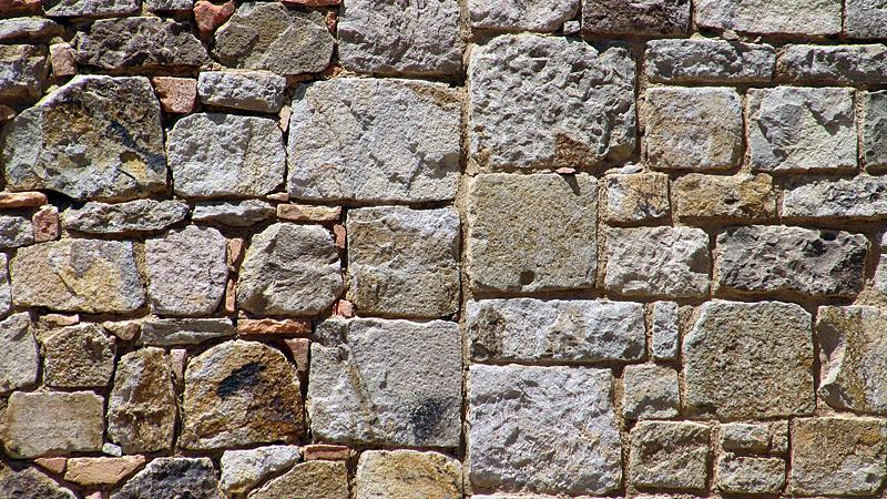 Stone cutting styles from different centuries - Castello di Amorosa