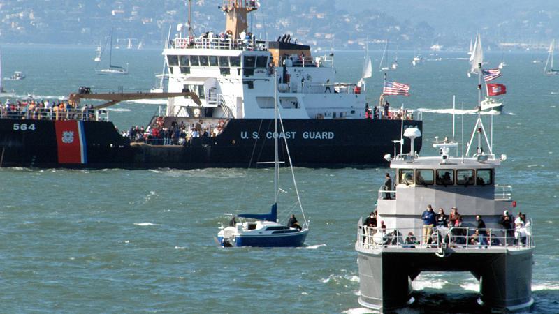 The Coast Guard had a presence.