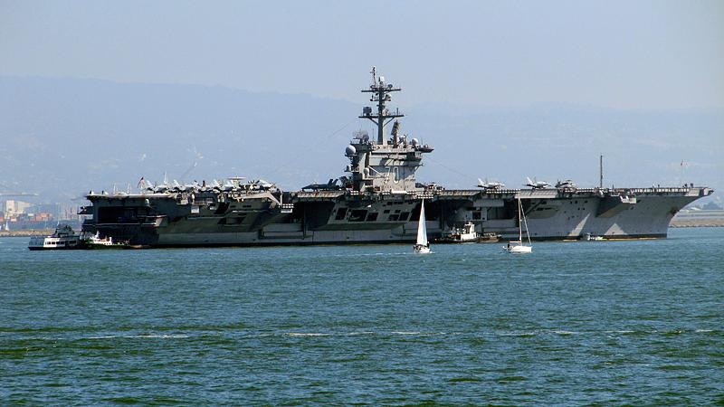 Another visiting aircraft carrier.