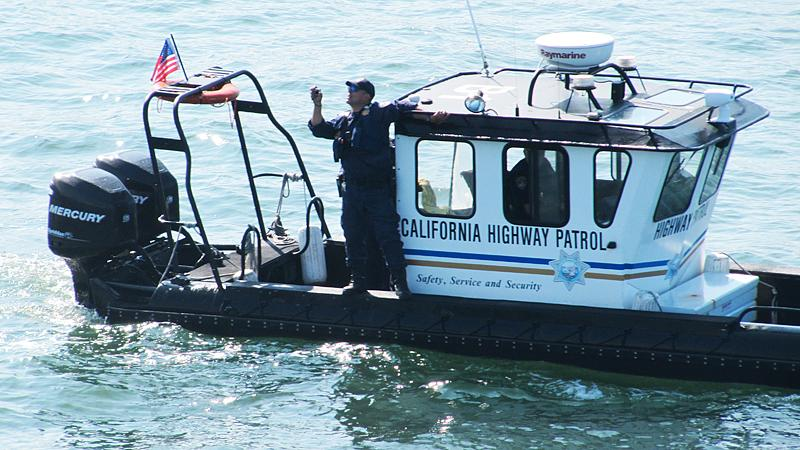 Who knew the California Highway Patrol had a boat?