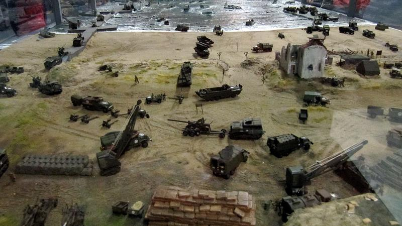 The D-Day diorama model aboard the Jeremiah O'Brien.