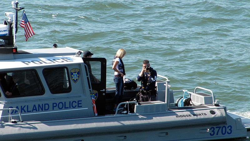 Oakland Police were on the bay.