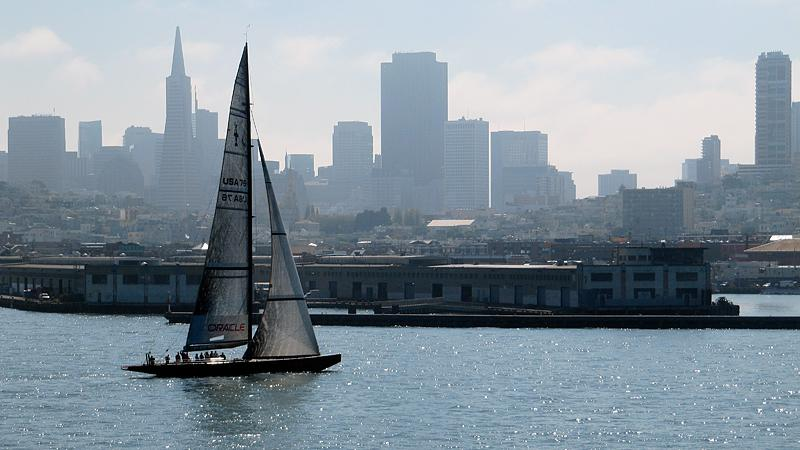 """BMW Oracle's """"USA 76"""" was built for the 2003 America's Cup"""
