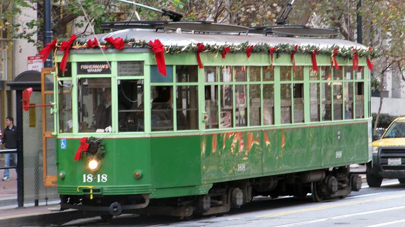 Holiday Streetcar in San Francisco