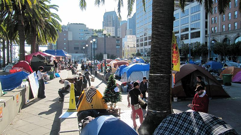 Occupy San Francisco on the Sunday morning just before they were raided