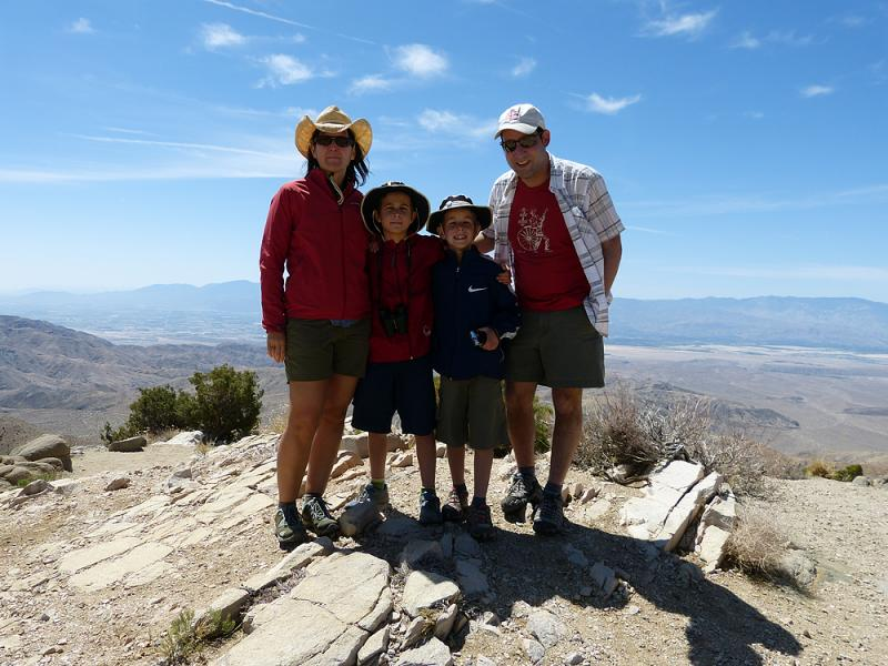 Boeger family self portrait from up on Keys View.