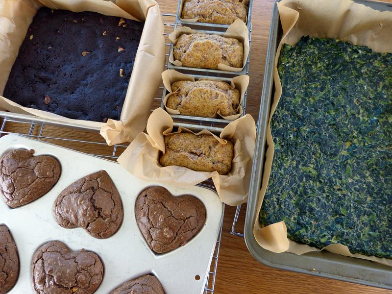 Trip prep - low carb baked goods. The brownies are killer diller.