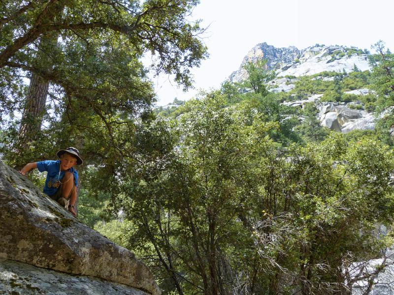 Henry climbing around Kings Canyon.